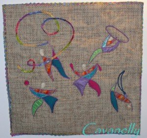 challenge JO  arabesques dans art textile arabesques-1-300x283