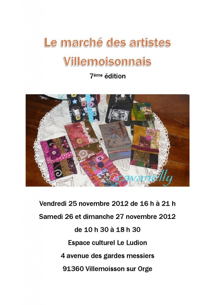 Marché des artistes ... dans art textile le-marche-des-artistes-villemoisonnais-2012